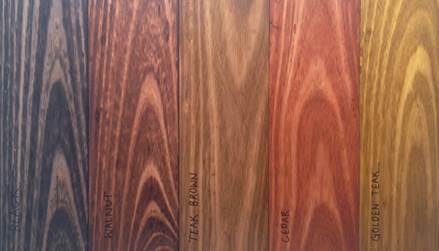 Staining Samples On Old Tasmanian Oak